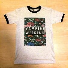 Vampire Weekend T SHIRT floral Rock Band Concert Indie GRAY SIZE S M L XL #๋J190