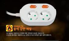 Korea 2Way Multi Plug Adapter Socket Cable Energy Saving Safety Switch Outlet