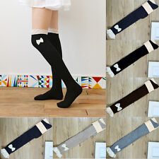Women Crochet Chic Lace Trim Cotton Bow Knit Leg Warmers Boot Socks Knee High