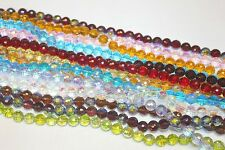 Glass Beads-10 mm-Round Faceted -128 Facets- Three (3) Strands (About 120 Beads)