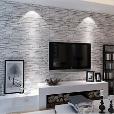 10M Vintage Brick Texture 3D Wallpaper New Luxury Home Fashion Roll Wall Paper
