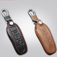 Qualityy Leather Remote Key Fob Case Holder Cover Fit Porsche Cayenne Panamera