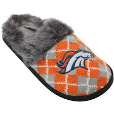 Denver Broncos Women's NFL Argyle Fur Slide Slippers
