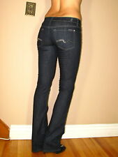 $225 Seven 7 For All Mankind Bootcut Dark Jeans Sparkly Crystal Stud Pkt 24 XS 0