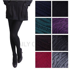Womens Knit Winter Leggings Fashion Footed Warm Cotton Snow Stockings Thick