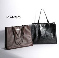 MNG Mango Touch Women Shoulder Pebbled ladies handbag Double Compartment Bag