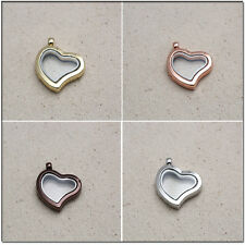 Living Memory Floating Charms Locket Heart Love Pendant for Necklace Jewelry