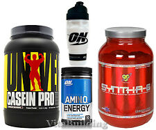 Amino Energy, Casein Pro, Syntha-6, ON Shaker Cup Stack, Universal, BSN, Optimum