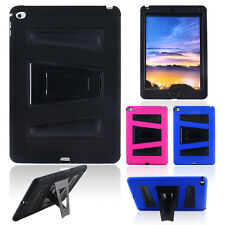 Rugged Hybrid Impact Heavy Duty Hard Kickstand Cover Case for iPad Air 2 6th Gen