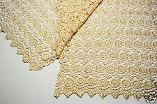 "Lily 42""  Rose Venice Lace Fabric All Over Both side Scalloped Edge 9 colors"