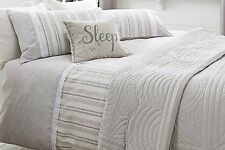 Brand New NEXT Natural Lace trim DOUBLE bedset, duvet cover
