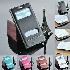 Flip Leather Wallet Phone Cover Case With Window For Samsung Galaxy S3 i9300