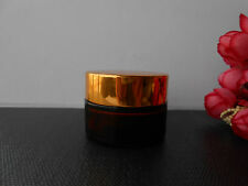 Amber Glass Cosmetic Box Bottle Moisturizer Cream Glass Jar Container-Empty