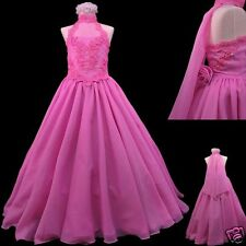 New Girl Pageant Wedding Flower Girl Party Formal Dress 7 8 10-14 Fuchsia Pink