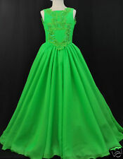 Lime Green Pageant Wedding Dance Formal Party Dress 4 Girl sz:3 4 5 6 7 8 10-14