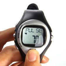 Pulse Heart Rate Monitor Calories Counter Fitness Watch Time StopWatch Alarm HG