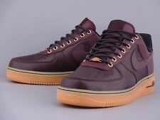 NIKE AIR FORCE 1 LOW DARK BURGUNDY GUM LIGH BROWN 488298-621 WORK BOOT