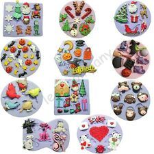 Christmas Halloween Silicone Mould Craft Soap Craft Candle Cake Decorating Gift