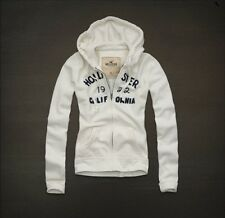 Girls/Womens Hollister By Abercrombie & Fitch Hoodie Jacket White XS/S/M/L