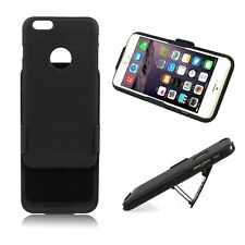 Black Rubberized Holster Case Belt Clip Cover Swivel Stand For iPhone 6 6 Plus