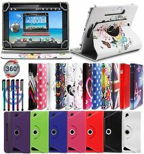 """360 PU Leather Universal Designer Stand Case Cover For Tesco Connect 7 7"""" Tablet"""