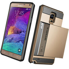 Card pocket Wallet Slim Hybrid Case cover for Samsung Galaxy S6 S5 Note4 Note3