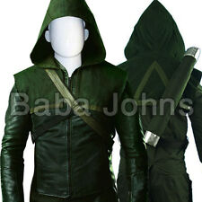 Green Arrow Oliver Queen Leather Costume .All Sizes