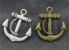 10/20pcs Zinc alloy two-sided anchor Fit Charm Pendant Making 23x20mm