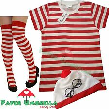 LadiesTShirt Hat Glasses Wheres my Fancy Dress Costume Wally Style Hen outfit