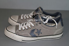 NWB ~ NEW CONVERSE BY JOHN VARVATOS STAR PLAYER OX GREY / BLUE LOW TOP SNEAKERS