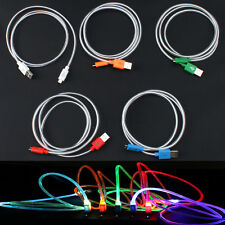 GLOW IN THE DARK light-up LED USB Data Sync Cable charger for Smartphone Mobiles
