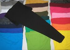 Cotton Spandex Ankle Length Leggings Pants Girls Size 4-12 Made in USA COLORS!!
