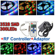 Tira Luz 5M 10M 15M 3528 SMD Impermeable Flexible LED Strip Light +12V Adaptador