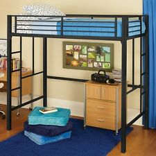 your zone metal loft twin bed frame w or wo mattress  bunk bunkbed  ladder NEW