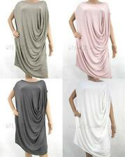 NEW LuCE Womens Italian Lagenlook Venice Tee Asymmetric Tunic Dress Tunic