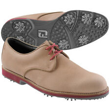 "Footjoy City Golf Shoes - 56401 - Tan/Burgundy - ""Manufacturer Closeout"""