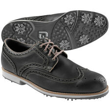 "Footjoy City Wingtip Golf Shoes - 56463 - Black/Mocha - ""Manufacturer Closeout"""