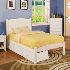 Caren Mission Style White Finish Youth Bed Frame Set