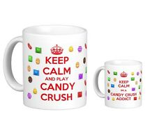 Keep Calm and Play Candy Crush Saga Addict Gift Cup Tea Coffee Mug Xmas Ideal
