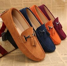 fashion Mens Casual suede tassel  loafer  moccasins lined driving dress shoes