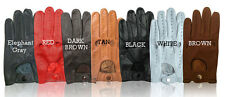 NEW REAL LEATHER MENS DRIVING GLOVES TAN SMALL MEDIUM LARGE XL XXL FREE SHIPPING