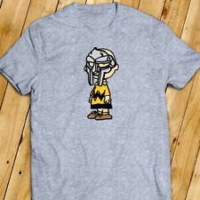MF DOOM Charlie Brown Wu Tang Madlib Madvillain Hip Hop Funny Art Gray T-Shirt