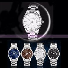 Stainless Steel Date Calendar Quartz Analog Mans Sport Fashion Dress Wrist Watch