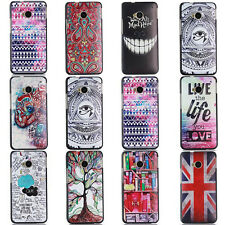 Hot  Fashion Pattern Flip Stand PC Hard Cover Case Skin For HTC One M8 M7