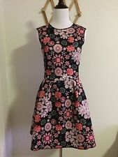 H&M Women's Sleeveless Patterned Full Skirt Dress Size S,M,L NWT