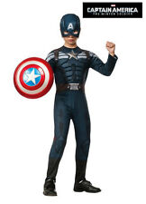 Avengers Captain America Winter Soldier Stealth Muscle Costume Boys Kid S-M 3-7