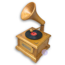 Vintage Wooden Gramophone Sankyo Wind up Music Box with over 30 Melodies Choice