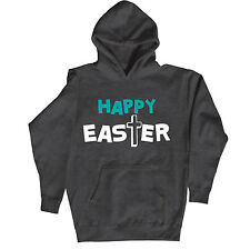 Happy Easter Cross Jesus Easter Bunny Religious Christian Novelty - Mens Hoodie