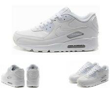 NIKE AIR MAX 90 GS White 307793 111 Leather Trainers UK 3 - 6