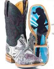 Women's Tin Haul 14-021-0007-0187 Guns 'n' Roses Leather Western Cowboy Boot's
